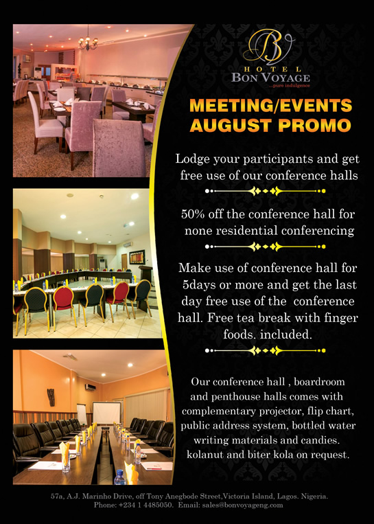 Hotel Bon Voyage August Meeting Events Promo Hotel Bon